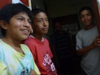 students at Ak' Kutan radio